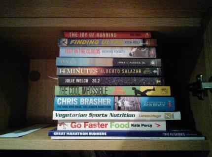 Inspirational books on running.
