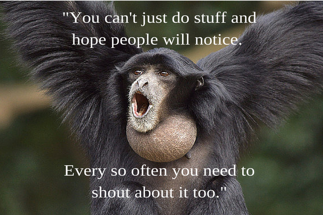 You must promote your Glasgow business blog monkey quote