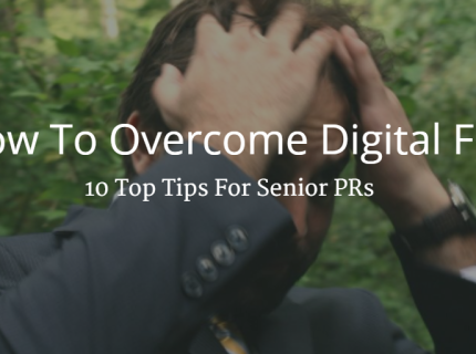 PR digital marketing senior PRs