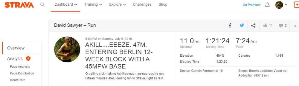 AKILL....EEEZE. 47M. ENTERING BERLIN 12-WEEK BLOCK WITH A 45MPW BASE _ Run _ Strava