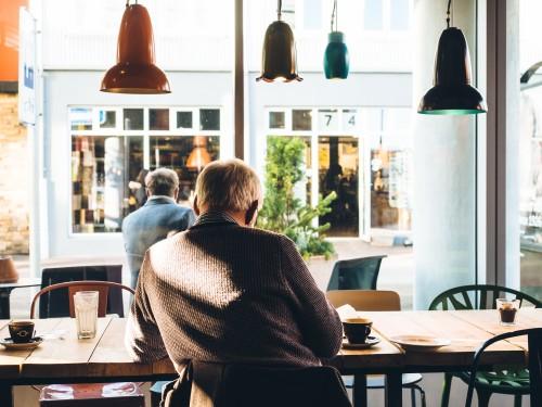 man in coffee shop to illustrate Glasgow PR consultancy Zude PR's post