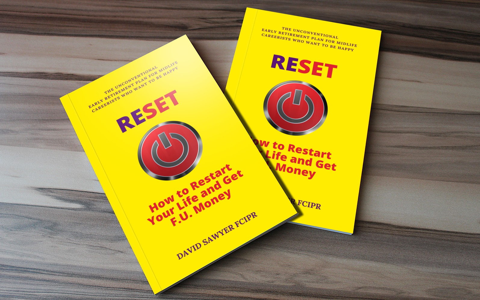 RESET paperback self-help book david sawyer zudepr
