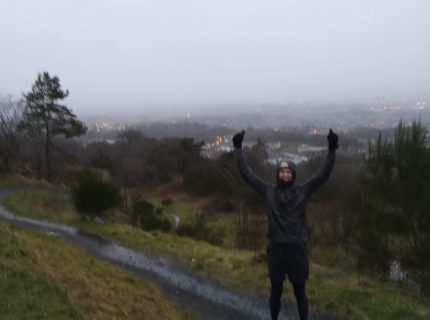 David Sawyer on the Braes with Michael.